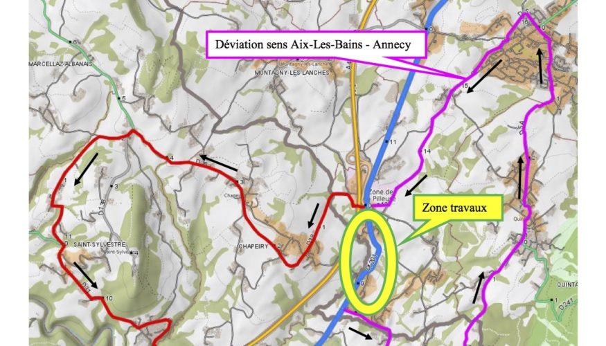 Fermeture de la route départementale 1201 les nuits du 20 au 23 juillet